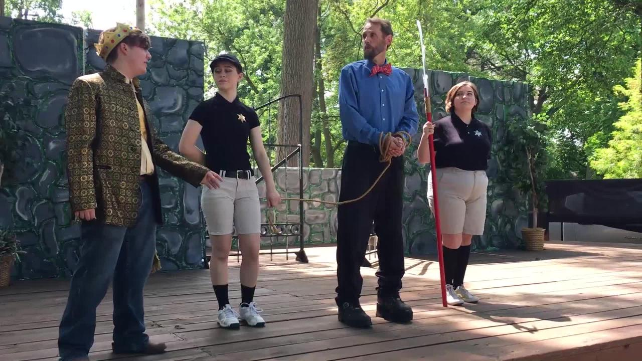 "An independent group of local thespians perform Shakespeare's ""The Comedy of Errors"" at Birchard Park."