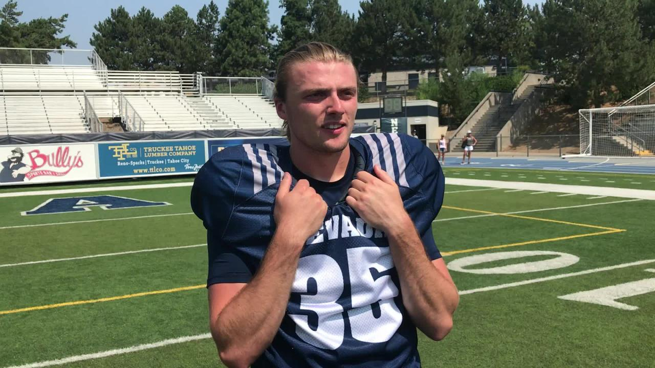 Nevada punter Quinton Conaway was put on scholarship after Saturday's scrimmage