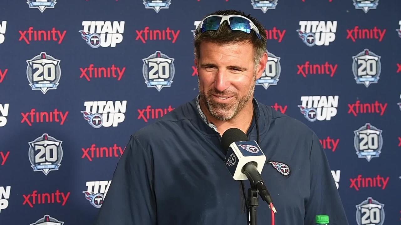 Titans head coach Mike Vrabel on Saturday practice