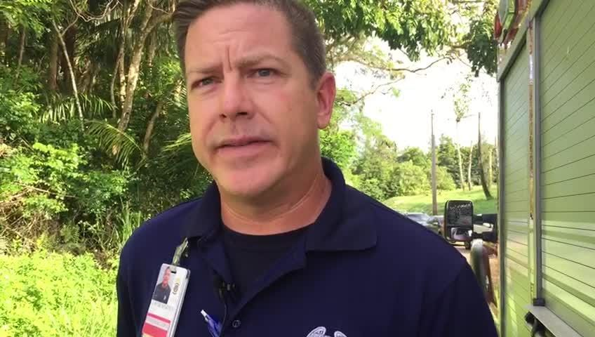 Guam Fire Department spokesman Kevin Reilly describes the overnight search for a boy missing from a hiking party near San Carlos Falls.