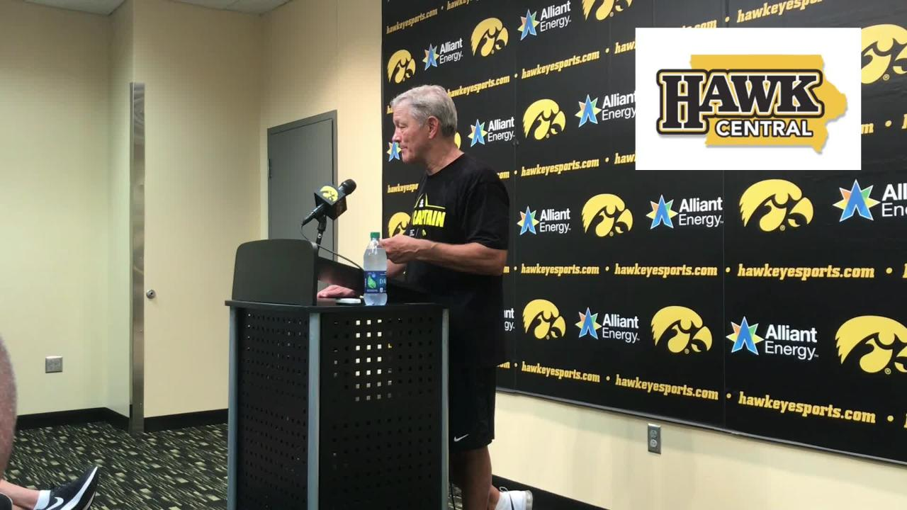 Iowa football coach Kirk Ferentz has been quickly impressed with his new running back, Mekhi Sargent