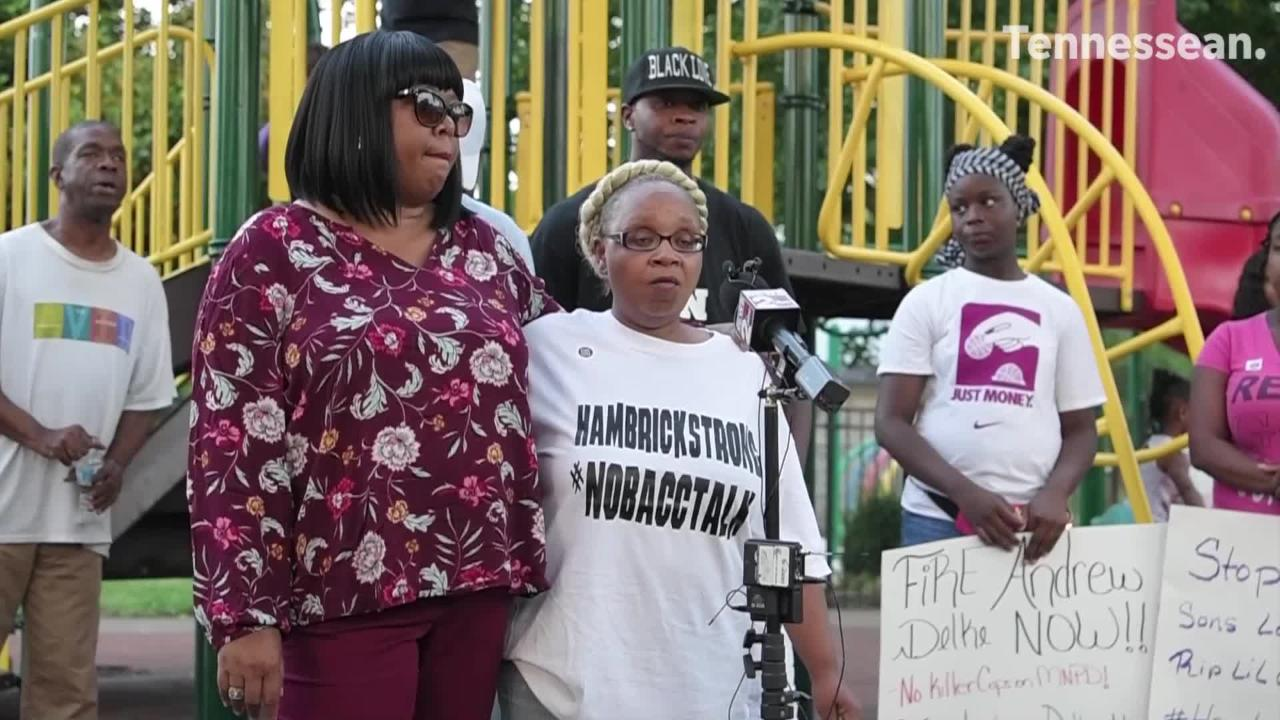 More than 200 people turned out Saturday to protest and remember Daniel Hambrick, who was shot and killed by a Nashville police officer.