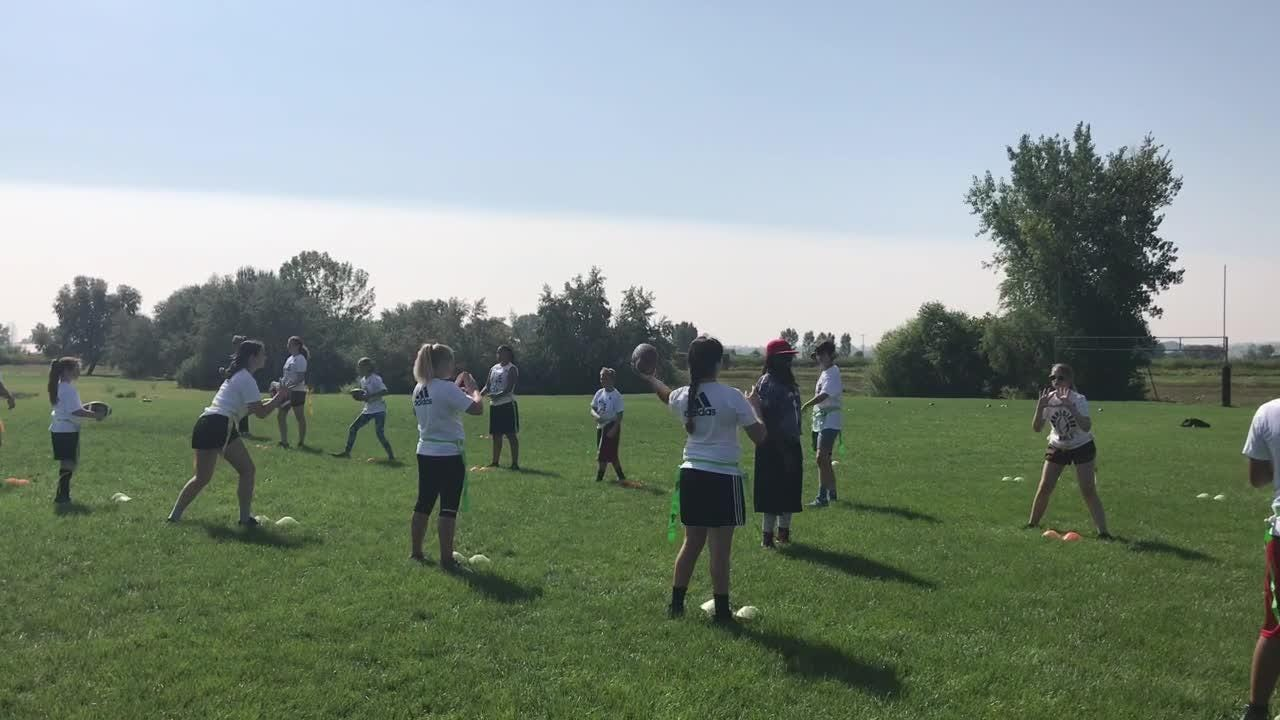 Jen Welter's Grrridiron Flag Football Camp for Girls on Sunday in Loveland had about 40 participants, including a handful of boys