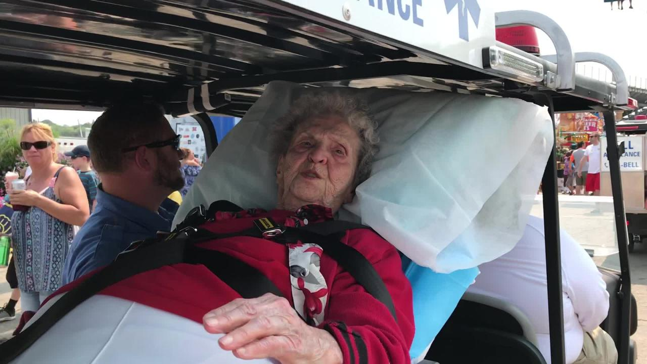 100-year-old makes her 80th State Fair visit with the help of Bell Ambulance