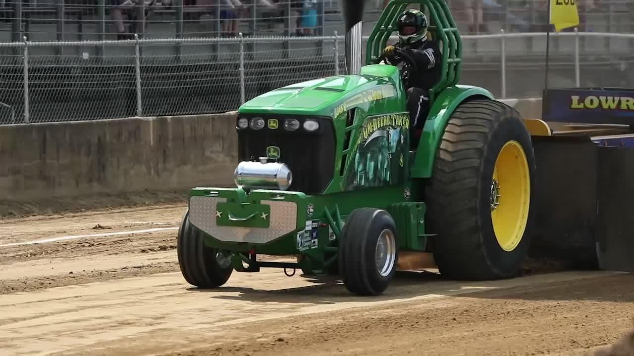 See tractor pulls at the Indiana State Fair like you never have before in slow motion video.