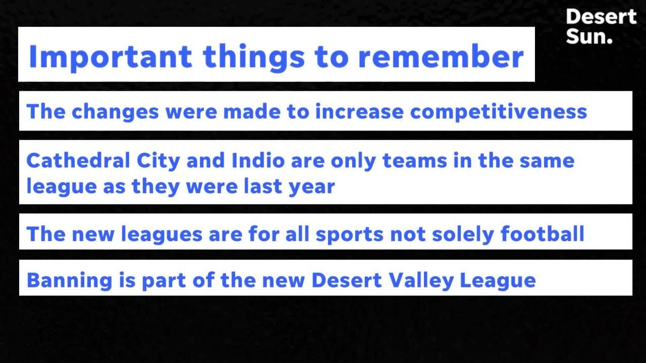 Almost every desert football team is in a new league this year. We break it down and get you ready for the start of the season.