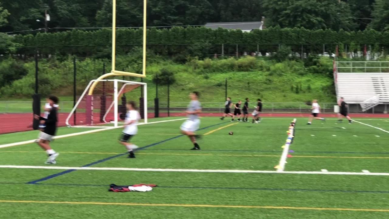 Elmira High School held its first football practice of the season in the rain Aug. 13 at Ernie Davis Academy.