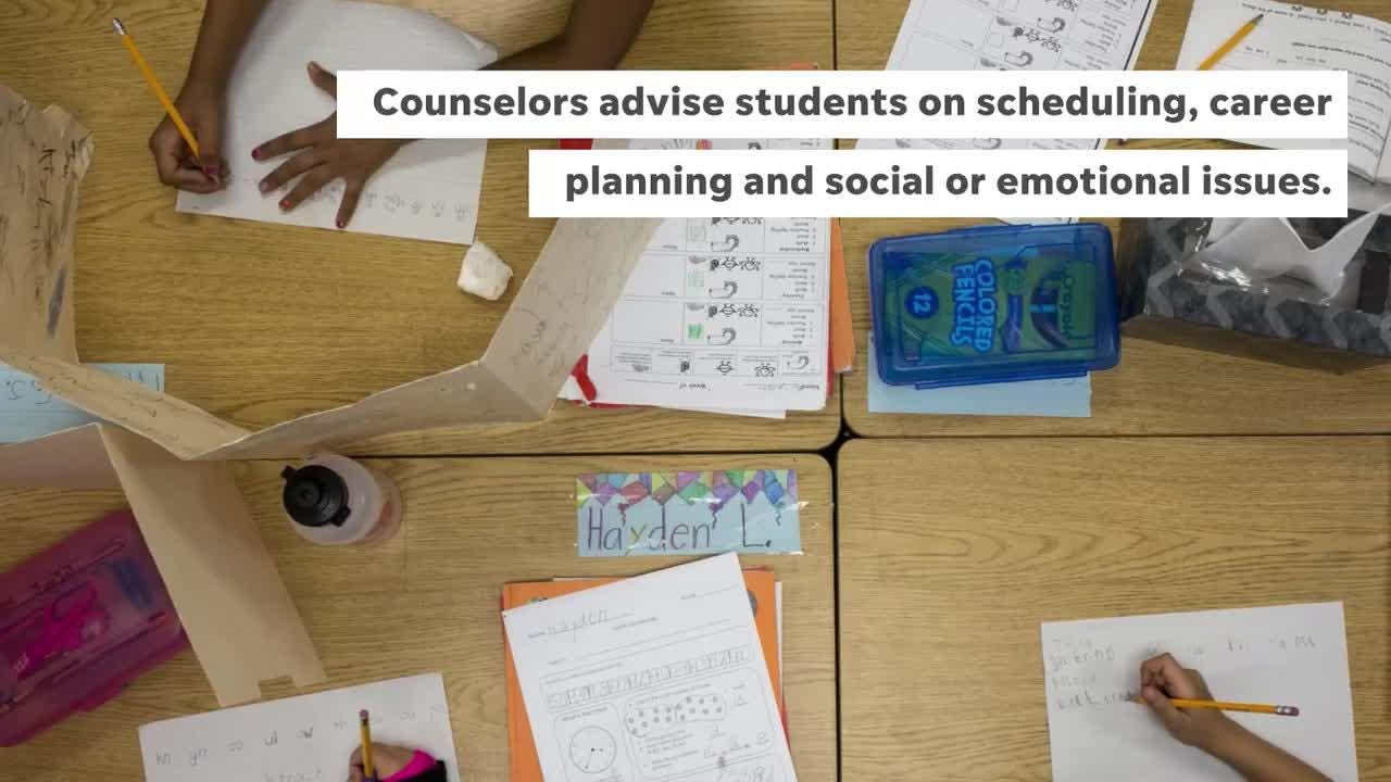 Arizona's student to school counselor ratio is the highest in the U.S., according to most recent data. There is one counselor for every 903 students.