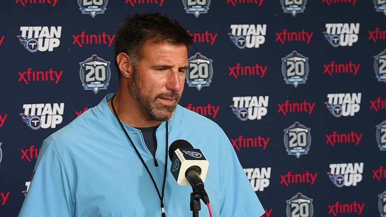 Titans coach Mike Vrabel looks forward to practicing against the Buccaneers