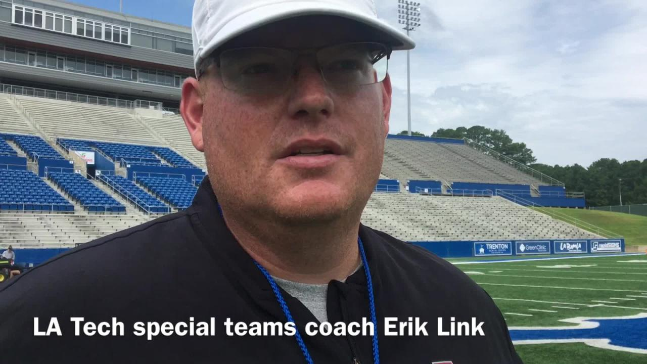 Louisiana Tech special teams coach Erik Link talks quick turnaround from being hired right before start of fall camp.