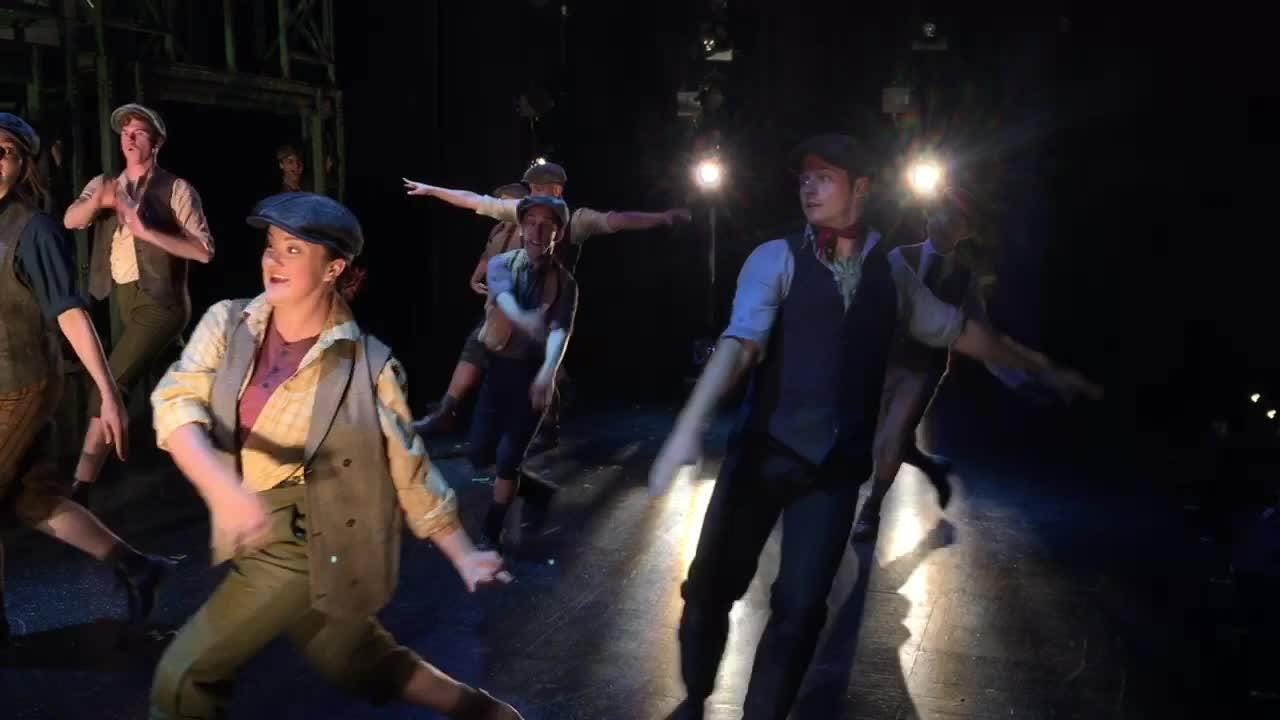 """Disney """"Newsies"""", the Broadway musical at Titusville Playhouse August 17- Sept. 9. For tickets, call (321) 268-1125 or www.TitusvillePlayhouse.com"""