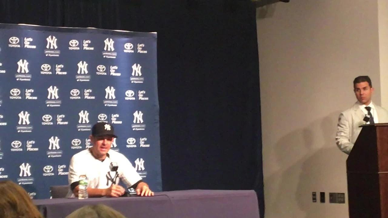 Yankees manager Aaron Boone talks about Luis Severino after loss to Mets