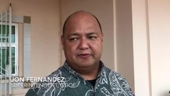 Guam DOE Superintendent Jon Fernandez on bus shortages on the first day of regular classes for