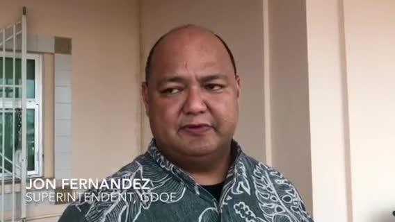 Guam DOE Superintendent Jon Fernandez on bus shortages