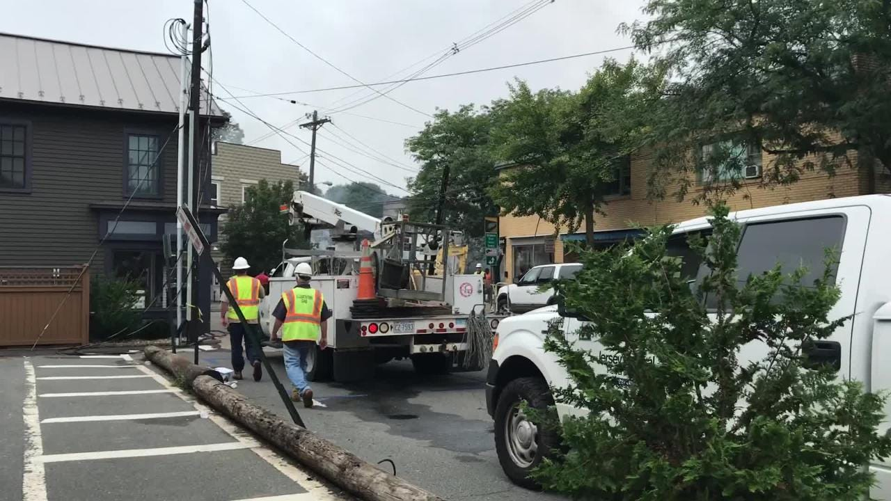 A massive fire destroyed buildings and left people homeless in Frenchtown late Monday after a truck crashed into a pizzeria on Bridge Street, according to reports.