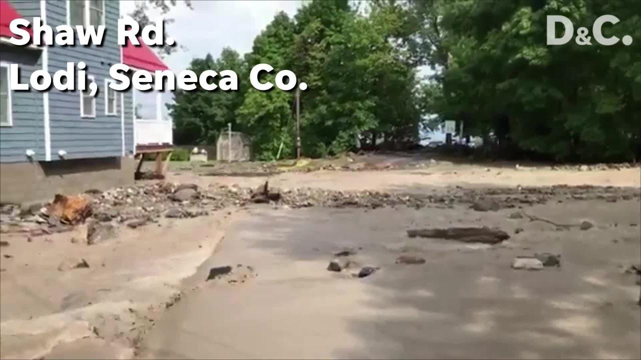 A state of emergency in Seneca County where roads are flooded and bridges washed out.