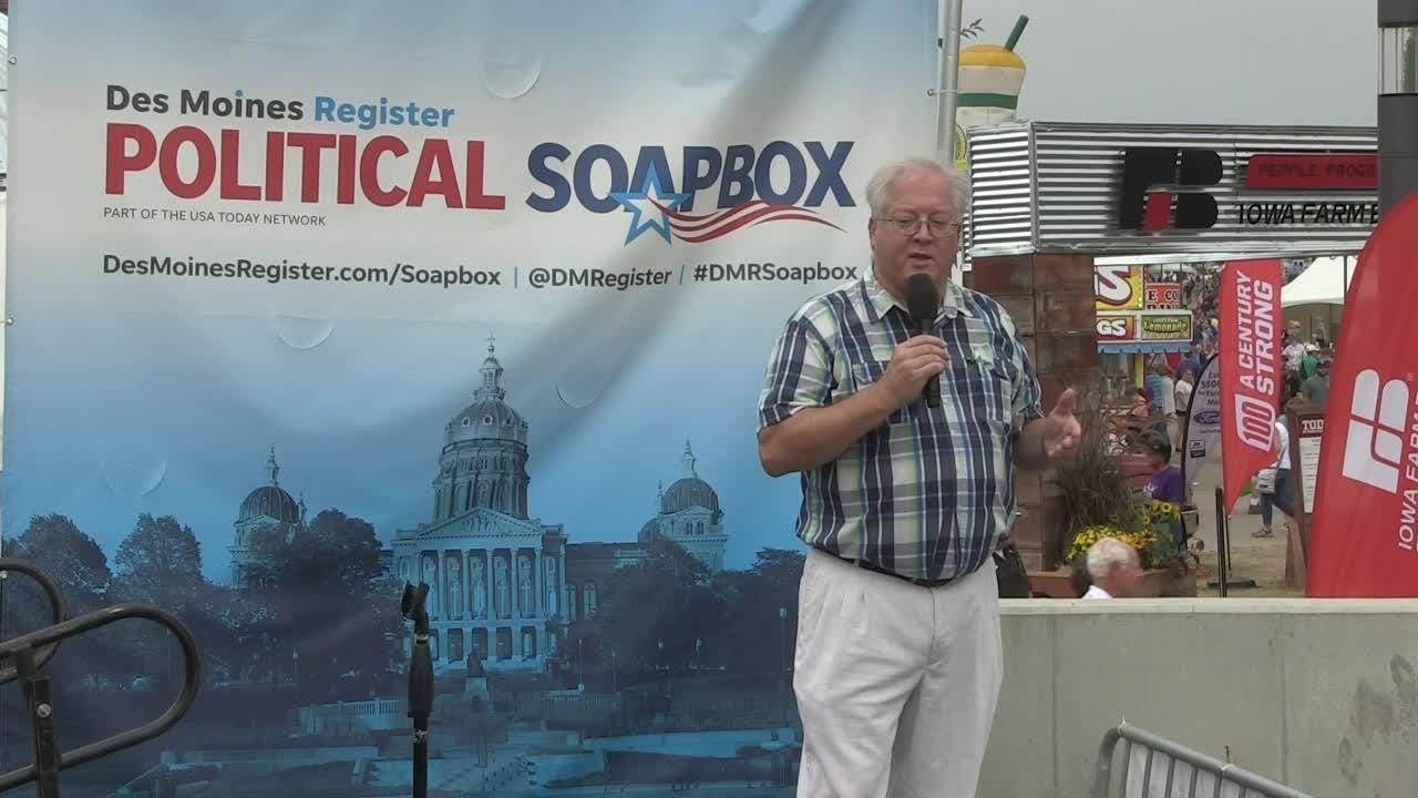 Soapbox:  Libertarian Chuck Aldrich, running for U.S. House in the 4th District at the Register Political Soapbox