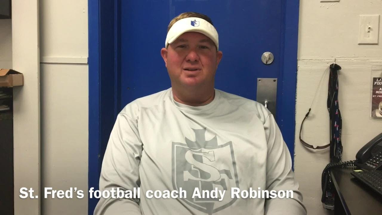 St. Frederick football coach Andy Robinson shares how the start of his tenure with program has progressed.