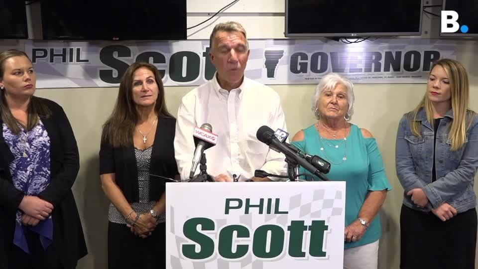 VT Gov. Phil Scott, facing Keith Stern and other Republicans angry with him for signing gun-control laws, thanked supporters after winning primary.