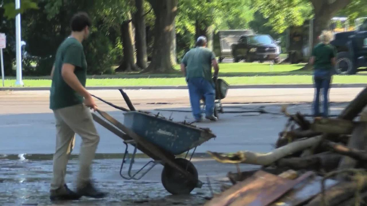 Sights and sounds from Seneca County as crews clean up debris.