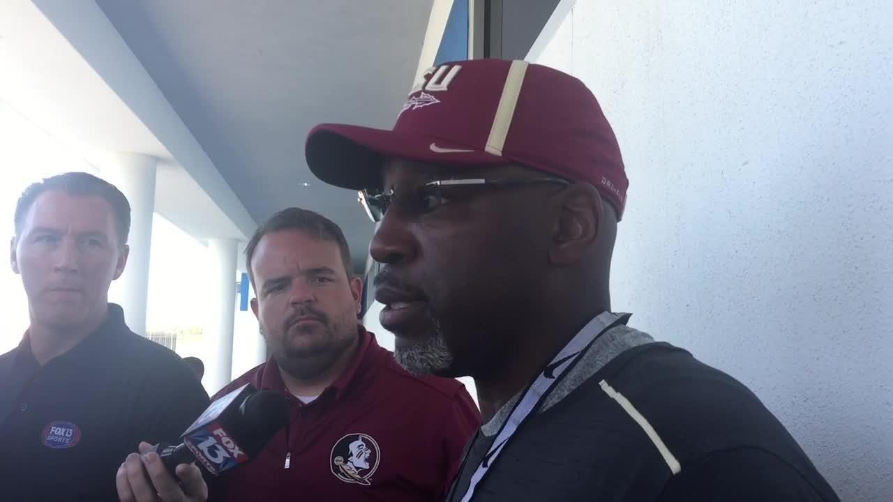 Watch it: FSU DC Harlon Barnett talks before practice at IMG