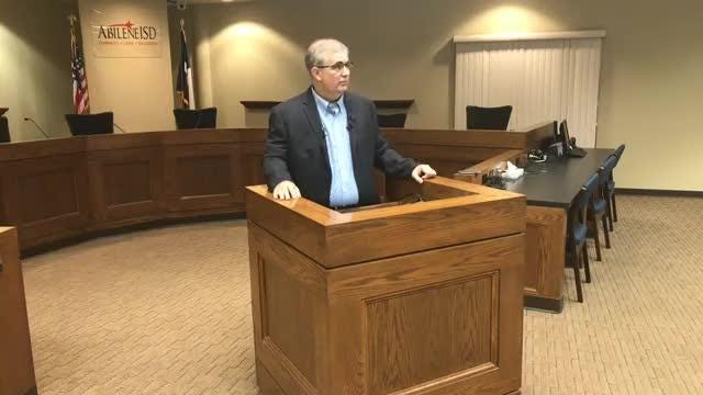 Abilene ISD Superintendent David Young talks about proposed bond during news conference on Wednesday, Aug. 15, 2018.