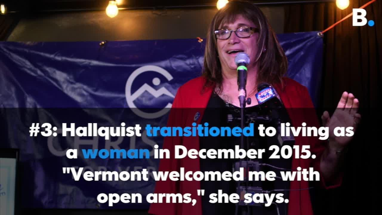 Vermont Democrat Christine Hallquist made election history as the first transgender woman ever to win a major party primary race for governor.