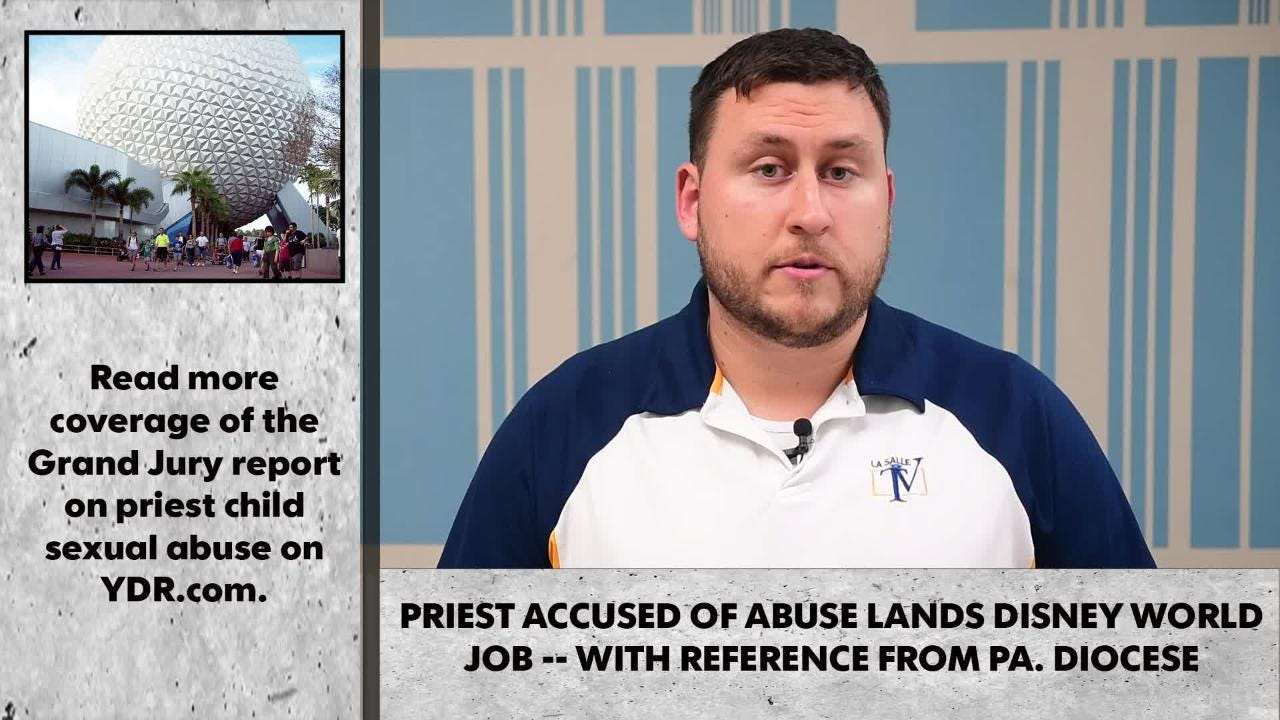 Details: Priest accused of abuse lands Disney World job -- with reference  from diocese