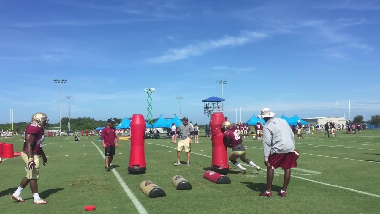 The Seminoles held their third of four practices at IMG Academy on Wednesday.