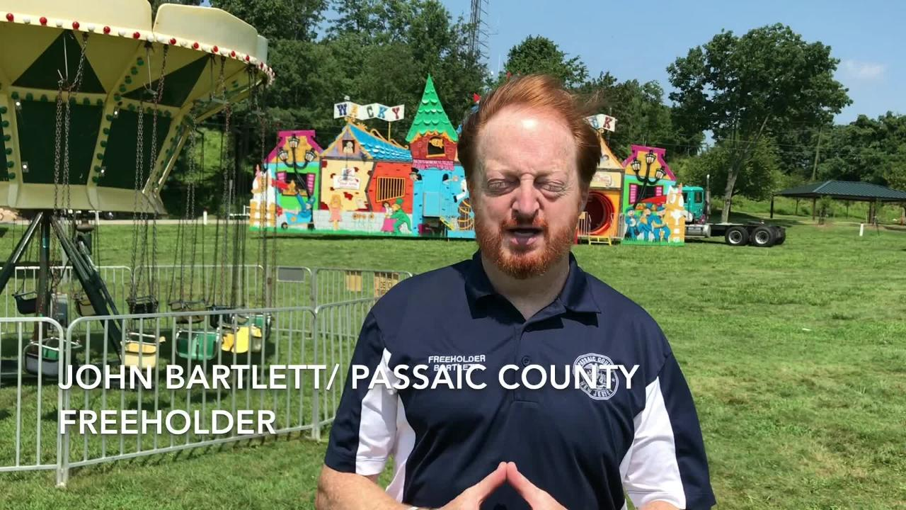 The Passaic County Fair begins Thursday night and runs through Sunday at the Garret Mountain Reservation in Paterson.