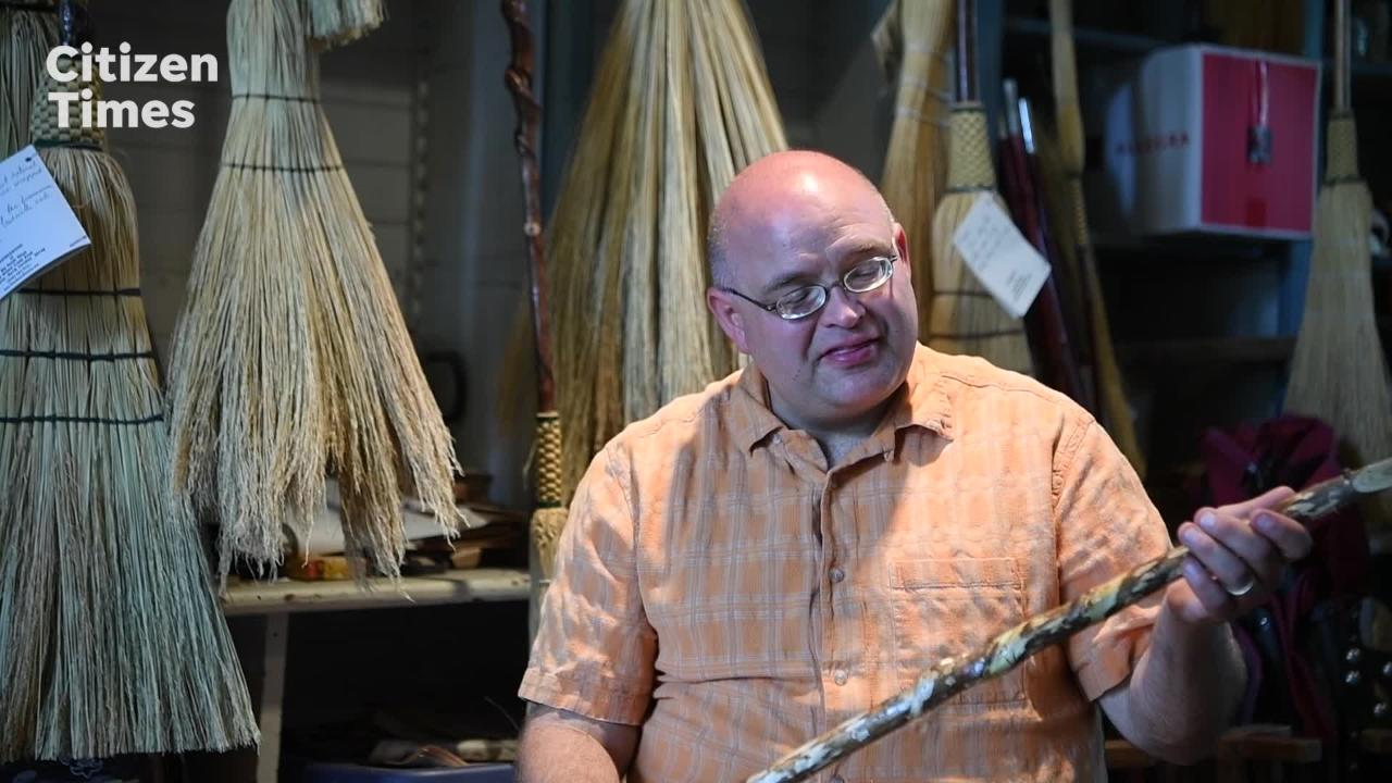 Broom maker carries on father's passion