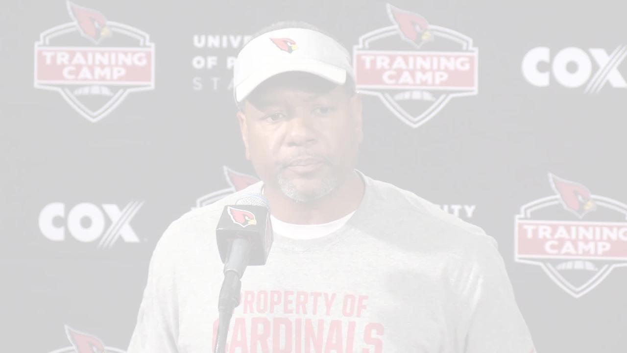 Arizona Cardinals coach Steve Wilks discusses rookie quarterback Josh Rosen's first NFL training camp.