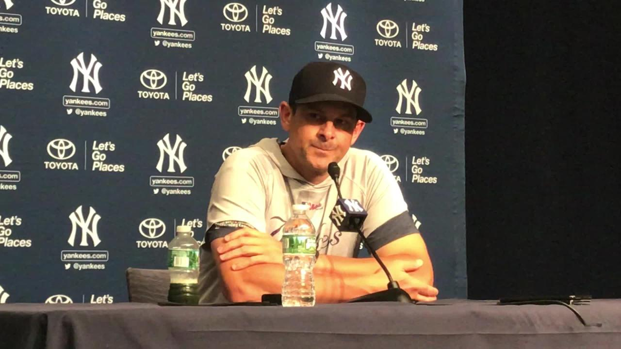 Yankees' manager Aaron Boone talks about his expectations for Luis Cessa ahead of his start against the Tampa Bay Rays.