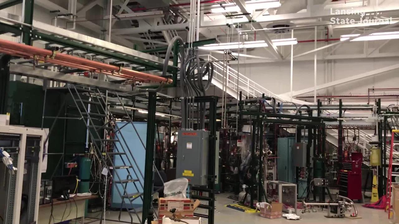Michigan State University's Facility for Rare Isotope Beams is on track to be completed in 2021.