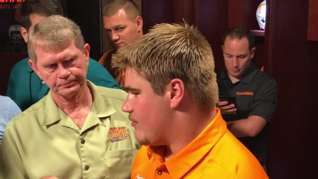 Tennessee offensive lineman Ryan Johnson is in line for a starting spot this season