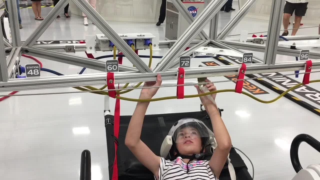 The Astronaut Training Experience has its grand opening at the KSC Visitor Complex Thursday morning,
