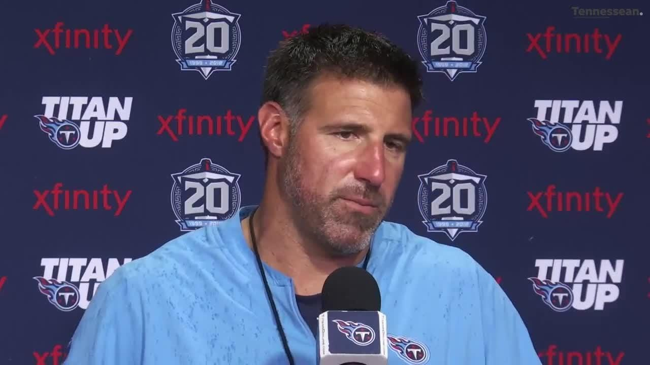 Titans coach Mike Vrabel broke up a shooting match during practice, but he's not concerned.