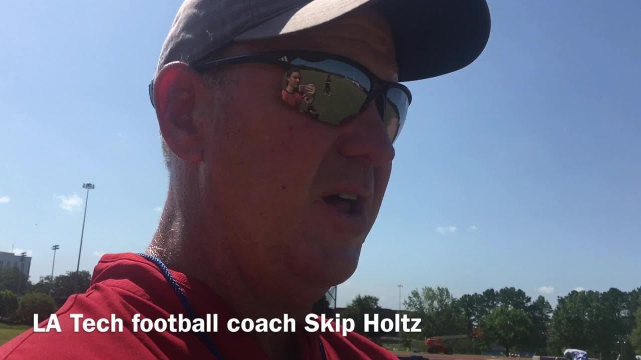 Louisiana Tech football coach Skip Holtz details the growth he wants to see from the first to second scrimmage.