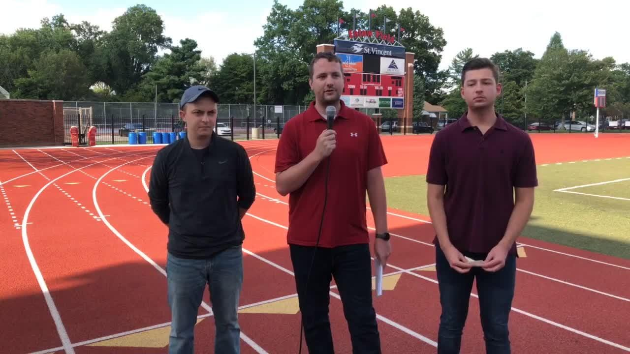 The Courier & Press sportswriters record a weekly Facebook Live show, breaking down football matchups. They stopped at Enlow Field for Week 1.