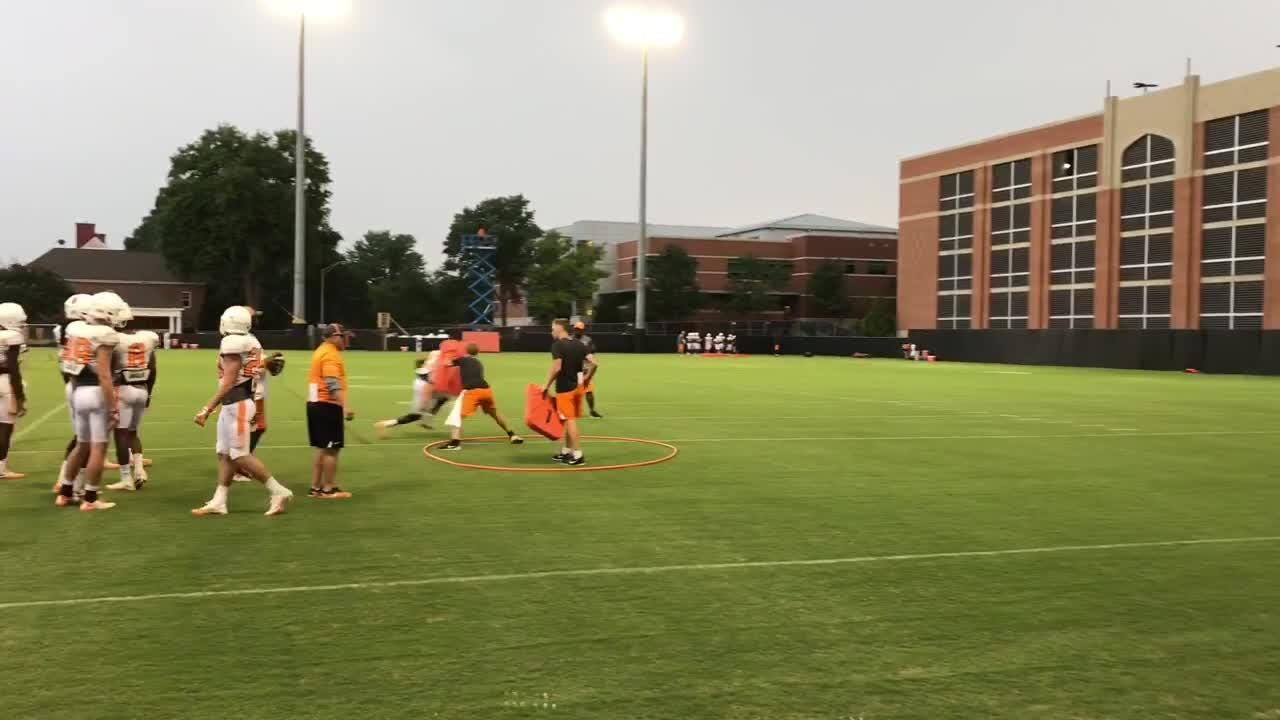 Tennessee held practice No. 12 on a rainy Thursday evening in Knoxville