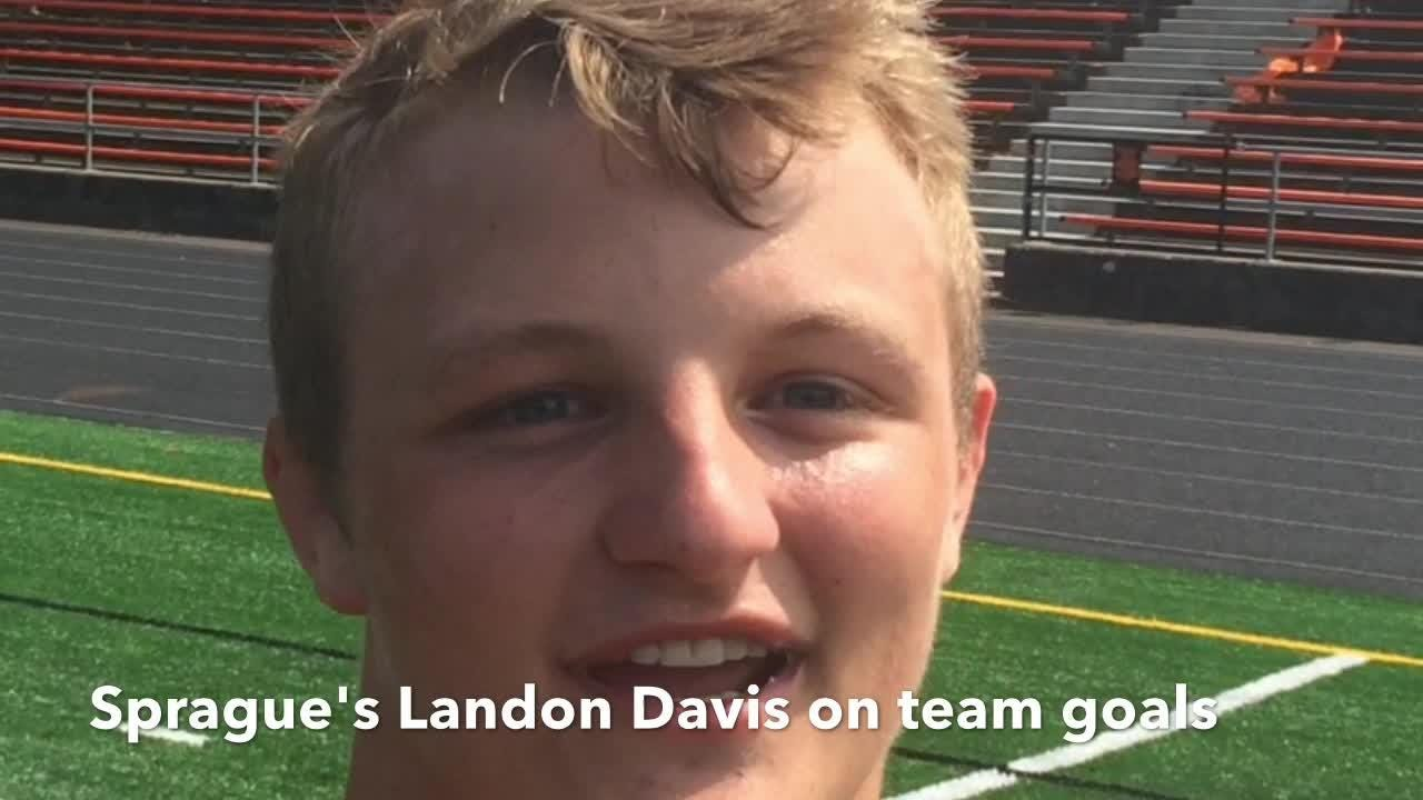 Sprague's Landon Davis talks about the team goals after the Olys lost a number of key players from last season.