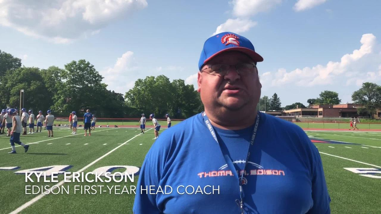 Thomas A. Edison is hoping to build off a 4-5 2017 record as Kyle Erickson takes over as head coach after contributing previously as an assistant.