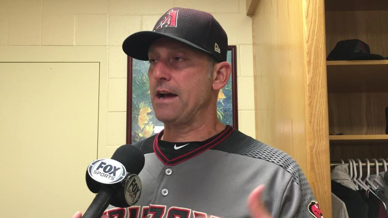 Diamondbacks manager Torey Lovullo talks about Clay Buchholz performance on Thursday night against the Padres, whom he held to one run at Petco Park.