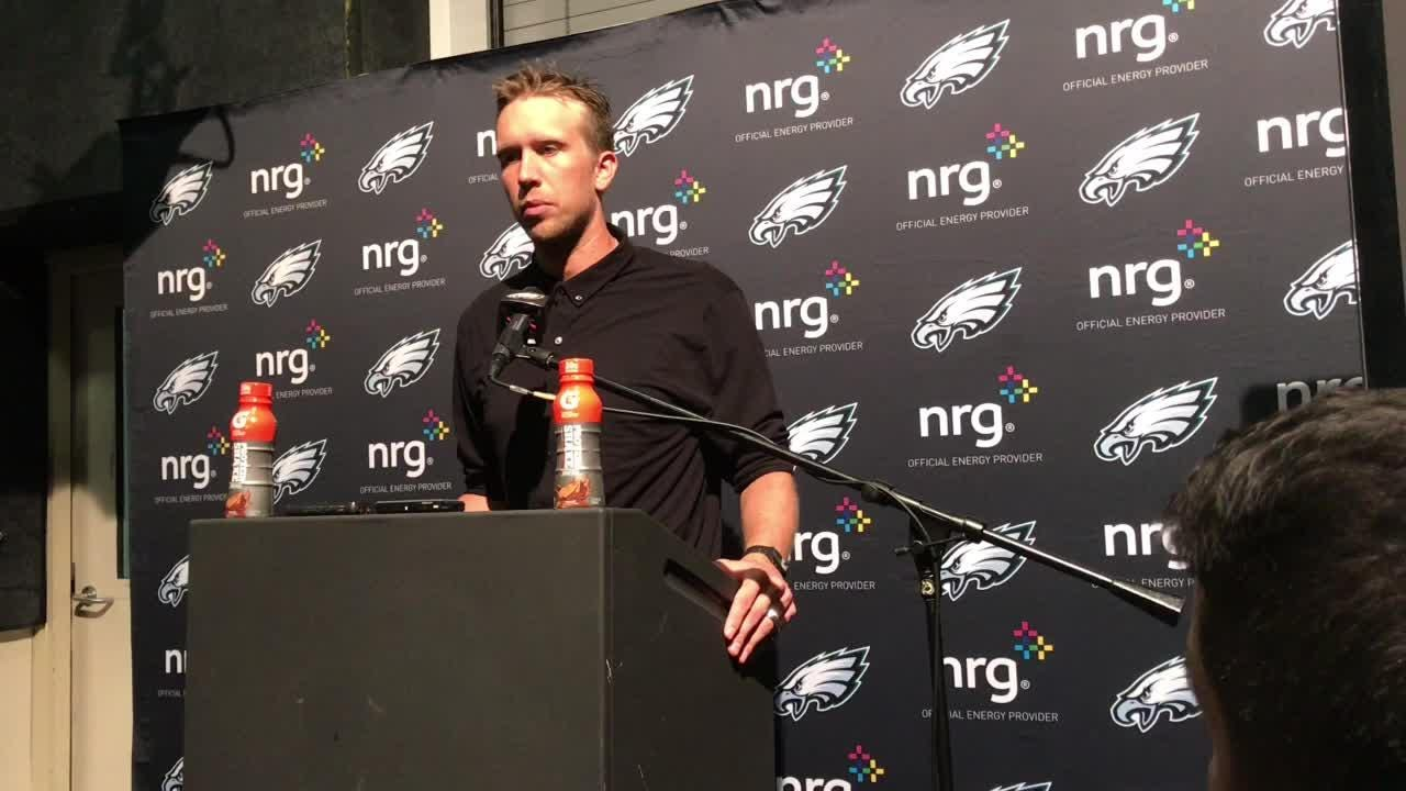 Foles on shoulder injury, Sudfeld on his play