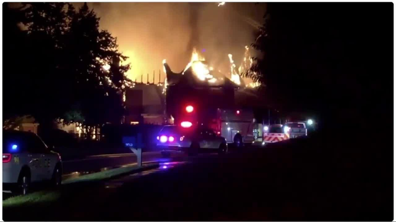 Lightning struck a Villa Hills home overnight, sparking a fire that destroyed it, fire officials said.