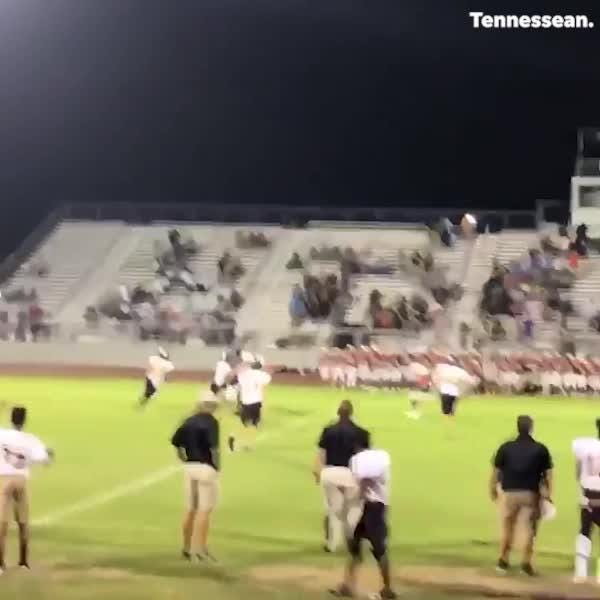 A botched snap and a near sack turned into a Hail Mary touchdown pass for Hendersonville's freshman football team. Watch the amazing play unfold.