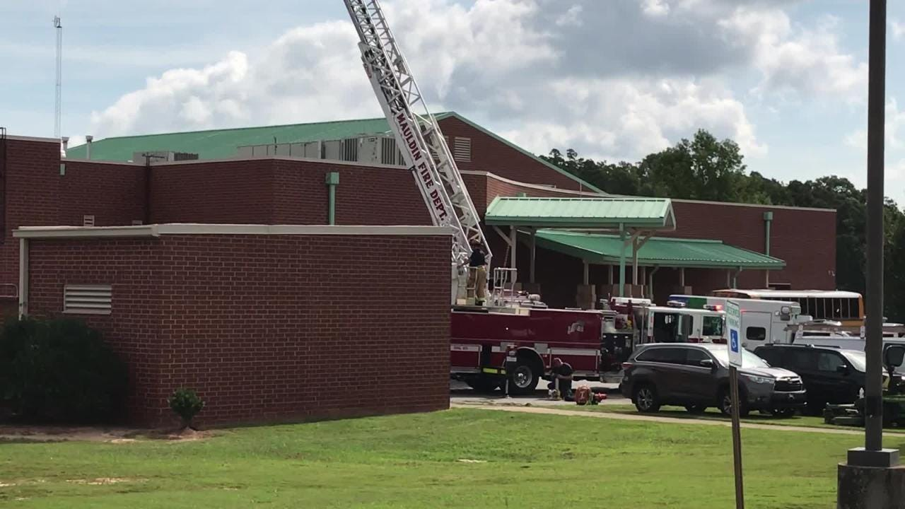 A 911 call was received Friday, Aug. 17, 2018, in regards to a person working on an HVAC unit on the roof, the Greenville County school district said.