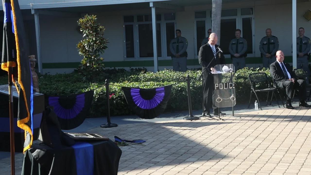 SWFL Public Service Academy honors fallen Fort Myers Police Officer with memorial brick