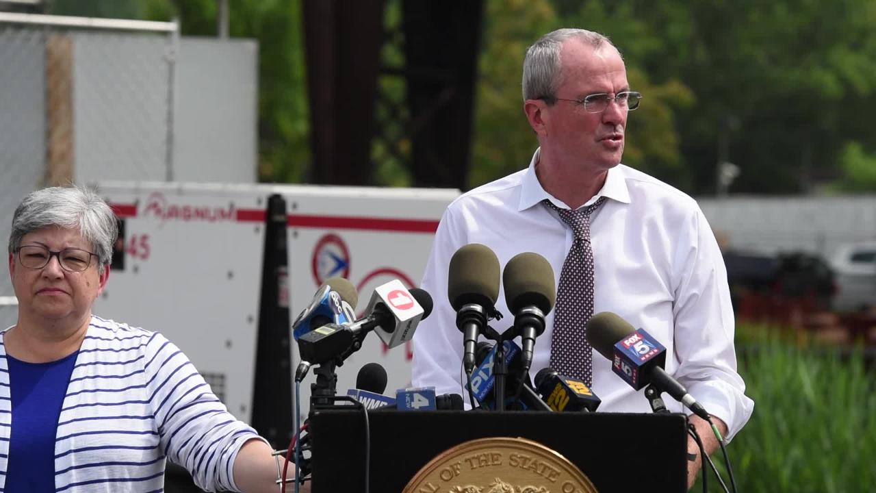 Governor Murphy speaks at a press conference on Route 495 Infrastructure Rehabilitation Project