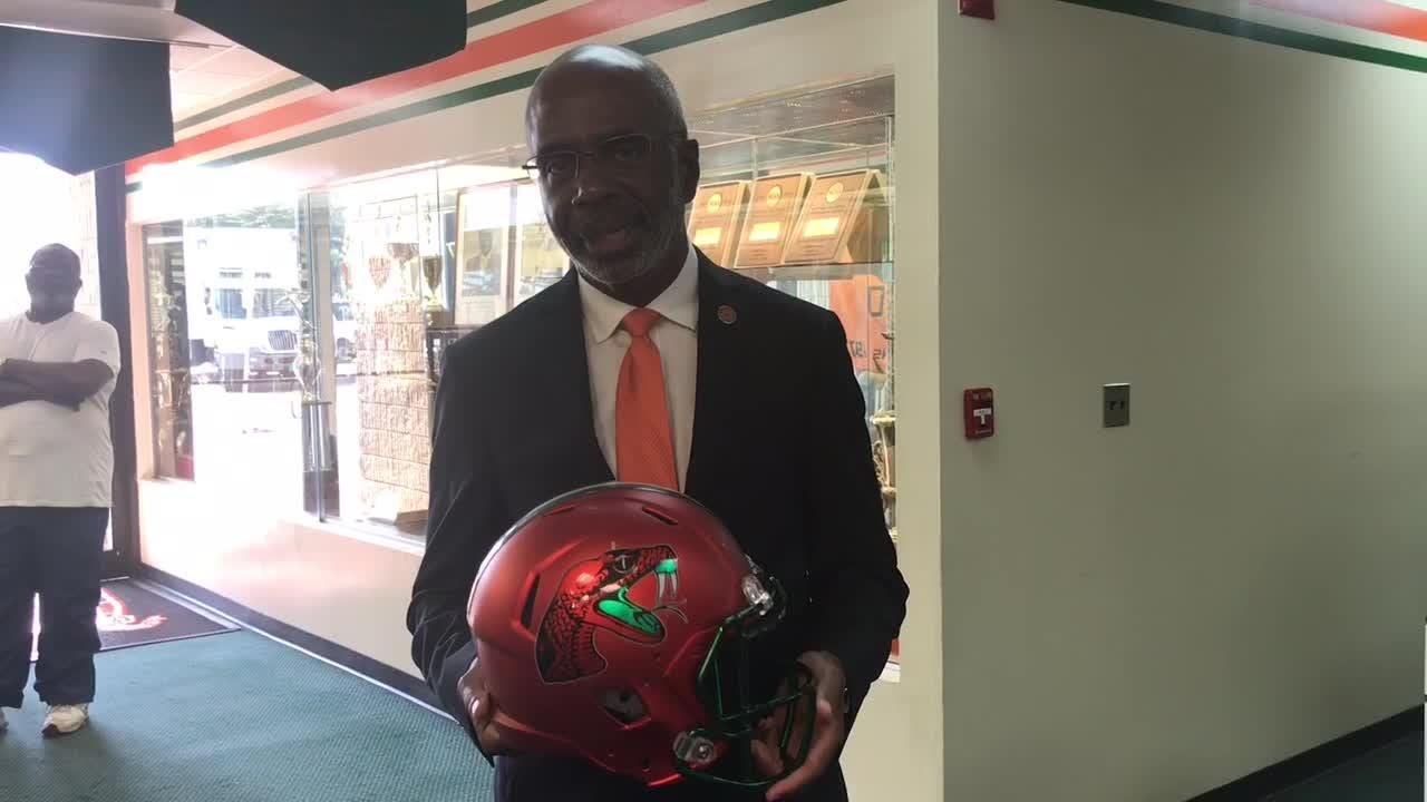 WATCH IT: FAMU president Dr. Larry Robinson discusses turf at Bragg
